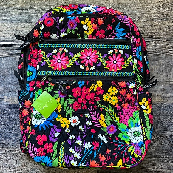 Vera Bradley Tech Backpack Field Flowers